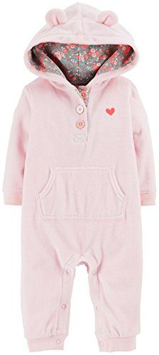 b6d9b6619 Carters Fleece Eared Romper Baby Pink12 Months >>> Check out the image by  visiting