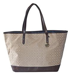 Tommy Hilfiger Signature LG Shopper Grab Tote Handbag Purse Bag - http://bags.bloggor.org/tommy-hilfiger-signature-lg-shopper-grab-tote-handbag-purse-bag/