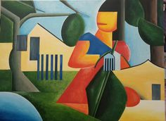 "Review of ""A Caipirinha"" - Tarsila do Amaral. Acrylic on canvas. Art, Canvas, Painting"