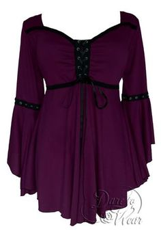 Dare To Wear Victorian Gothic Women's Ophelia Corset Top Plum