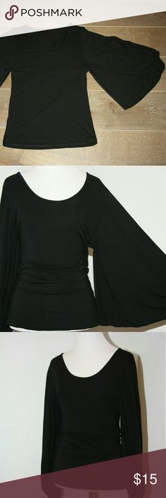 Spotted while shopping on Poshmark: Wide Sleeve Black Top! #poshmark #fashion #shopping #style #unbranded #Tops