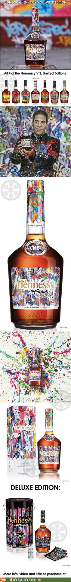 JonOne is the latest (and seventh) artist to create a limited edition label and gift box for the Hennessy V.S. Limited Edition Series.
