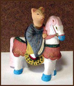 uma nori kitsune 馬乗り狐 inari fox riding a horse The horse as the messenger of the fox-deity is used by the god from the Inari Fox Mountain. Japanese Fox, Japanese Animals, Fox Images, Fox Spirit, Fox Art, Deities, Dinosaur Stuffed Animal, Folk, Arts And Crafts