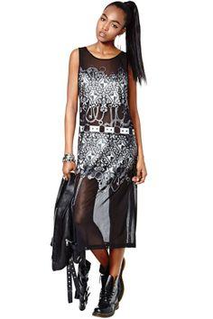 Nasty Gal Collection Chaos Theory Mesh Maxi Dress | Shop Dresses at Nasty Gal