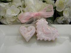 Elegant Little Pink Hearts Favors    One Dozen by sugarplumtea, $21.00