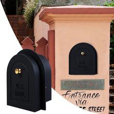 Mailbox 6 Brick Stone Stucco Door - Cast Aluminum Replacement Doors Mailboxes #BrickStone
