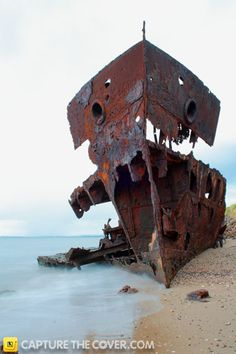Woody Point wreck #CaptureTheCover entry - by Stephanie in Brisbane's Redcliffe Region. Click to enter your photos!