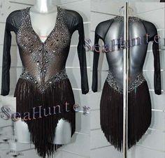 Women Ballroom Rhythm Salsa Rumba Latin Dance Dress US 6 UK 8 Black Fringe   Clothing, Shoes & Accessories, Dancewear, Adult Dancewear   eBay!