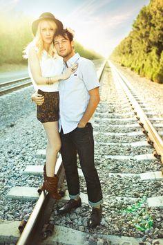 Shannen Norman, Lovisa Photo, railroad engagement session ideas, boho, hipster, adventure, edgy style, sunshine