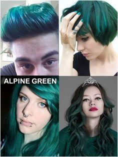Coloring hair balsam - Alpine green #haircolor #brighthair #directions #lariche #gothichair #hairfashion #hairspiration #gothichairstyle #coloredhair #hairdye #hairdye #brighthair #girlwithdyedhair   Fantasmagoria.eu - Gothic Fashion boutique Gothic Hairstyles, Permed Hairstyles, Gothic Fashion, Fashion Beauty, Dark Green Hair, Alpine Green, Semi Permanent Hair Dye, Bleaching Your Hair, Synthetic Hair Extensions