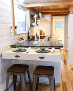 "473 Likes, 2 Comments - Dream Big Live Tiny® Co. (@dreambiglivetiny) on Instagram: ""A 28' Kootenay Tiny House on wheels built by @truformrv ! This tiny features a private loft bedroom…"""