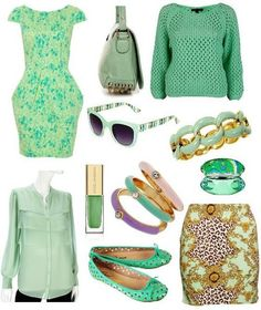 Mint clothes and accessories for spring!