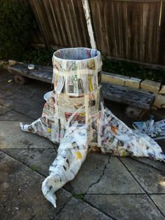 Make Tree Trunk With En Wire How To A Paper Mache Making