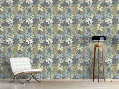 Design #Tapete Gelb Lila Potpourri