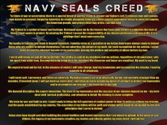 Us Navy Seals Poster featuring the Navy SEALS Creed. Perfect Navy gift for any active duty Navy Seals or retired Seals. Navy Military, Military Life, Military Service, Navy Seal Creed, Navy Seal Training, Marine Recon, Seal Team 6, Go Navy, Navy Mom