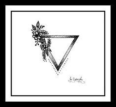 Triangle tattoo design for girls