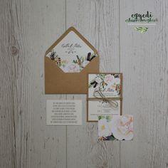 Vintage floral wedding invitation and stationary / Vintage, virágos  esküvői meghívó bélelt borítékkal Vintage, Vintage Comics