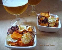 Chips caseras de hortalizas