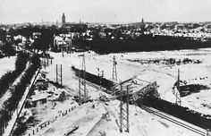 Bussum 1920 Brinklaan bouw van het viaduct.jpg