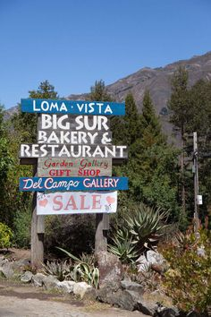 Gaby's Guide to Big Sur / Nepenthe, has a great view of the ocean on the outside patio. The food quality there is nothing to write home about Big Sur California, California Travel, Us Road Trip, Pismo Beach, Pacific Coast Highway, San Francisco, Parcs, Vacation Trips, Places To Go