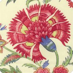 Upholstery Fabric Grand Palampore Jewel Floral Linen Drapery Fabric