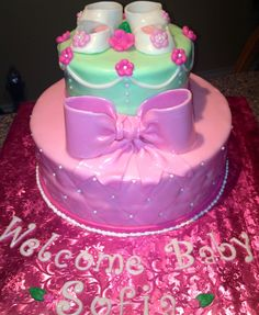 Baby Girl Shower Cake ;)
