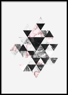 Graafinen taulu kolmiokuviolla.