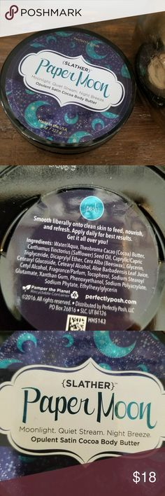 Perfectly posh paper Moon slather body butter Brand new. Sealed. #14 perfectly posh Makeup