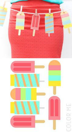 free printable popsicle banner party