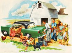 Little Sally's Big Visit With Her Grandparents   #Vintagechildrensschoolbook illustrations #nostalgia #writing