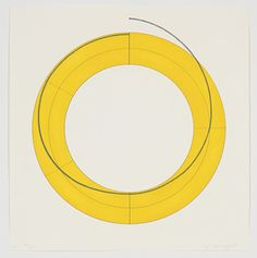 """Ring A (Yellow)"" Robert Mangold Date: 2010 Style: Minimalism Genre: abstract Media: aquatint, etching Dimensions: 30 x 29 cm File Source: www.printed-editions.com"