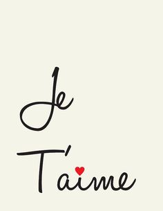 Je T'aime // I Love you // French love quote // Yo Te amo. French Love Quotes, French Words, Art Quotes, Tattoo Quotes, Inspirational Quotes, Rose Quotes, Quote Art, Font Hand Lettering, Typography