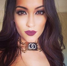 Beautiful plum lipstick