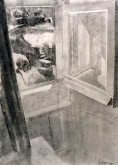 Sangram Majumdar. inside and outside, charcoal and graphite on paper, 20 X 16 in, 2005 (private collection)