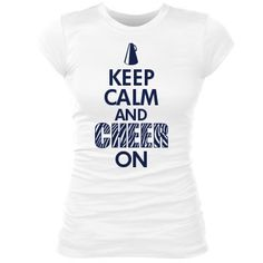 Keep Calm And Cheer On: Custom Junior Fit Bella Sheer Longer Length Rib T-Shirt - Customized Girl