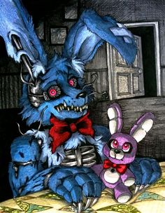 Nightmare beside you / N Bonnie FNaF 4 by Mizuki-T-A.deviantart.com on @DeviantArt