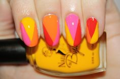 Summer Sorbet nail art by Polish You Pretty! Click the photo to view the full tutorial!