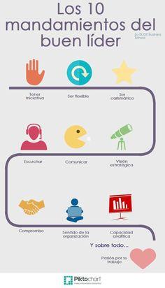 Los 10 mandamientos del buen líder vía: Piktochart #infografia #infographic