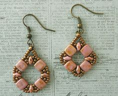 Linda's Crafty Inspirations: A few more Coin Earrings Variations with SuperDuos