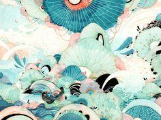 Season by Yellena James — cool prints, great work.