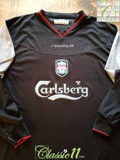 cceee7e3b Official Reebok Liverpool away long sleeve football shirt from the 2002 03  season. Premier