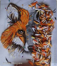 *QUILLING ~ Painting panels pattern Quilling Wise fox + MK looped quilling paper strips Photo 2