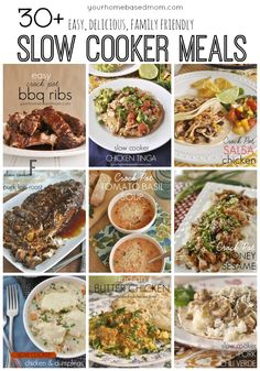 30+ easy, delicious family friendly slow cooker meals. I've made them all!!
