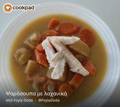 Ψαρόσουπα με λαχανικά Soup, Ethnic Recipes, Soups
