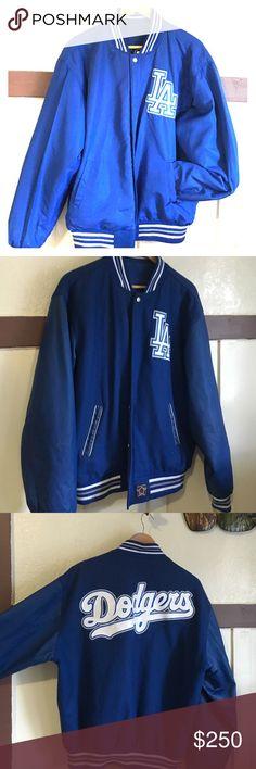 JH authentic reversible jacket ( LA Dodgers ) Authentic  reversible  leather LA dodgers jacket, good condition.. jH dodger Jackets & Coats
