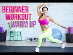 Total Body Warmup and Beginner Workout   Natalie Jill