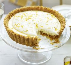 St Clement's pie. A very British version of Key lime pie - an indulgent, creamy tart with tangy oranges and lemons