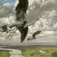 Hans Thoma was one of Germany's outstanding painters in the late century. Trained in Karlsruhe and Düsseldorf in the he met Gustave Courbet during a long stay in Paris and was deeply influenced by him. Max Ernst, Karl Hofer, Horst Janssen, Hans Thoma, George Grosz, Art Nouveau, Engineer Prints, Old Paintings, Vintage Birds