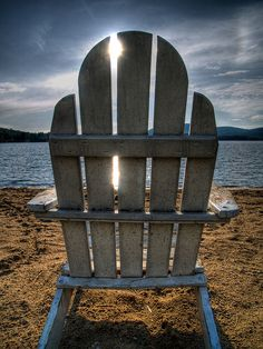 Blue Mountain Lake Chair by jalexander., via Flickr