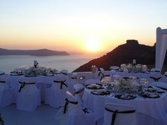 Sunset wedding Dinner